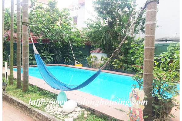 Swimming pool villa with large garden, Tay Ho district