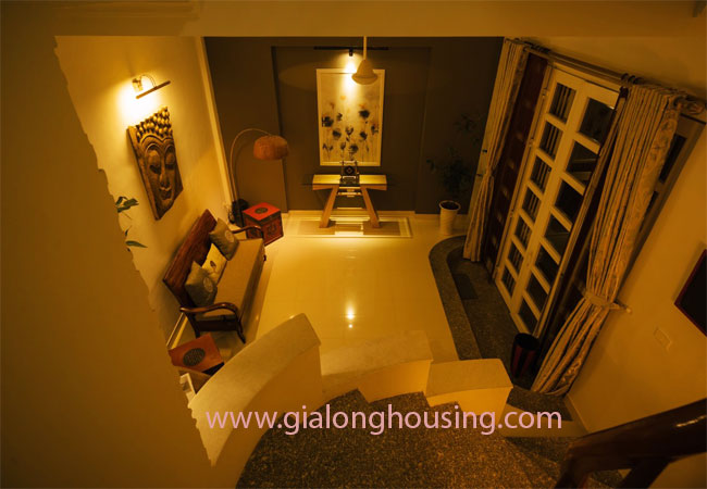 Fully furnished 5-storey house for rent in Tran Hung Dao Street, Hoan Kiem District