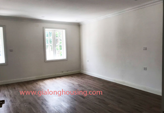 white paint unfurnished 3-storey villa for rent in C block Ciputra, Hanoi 5