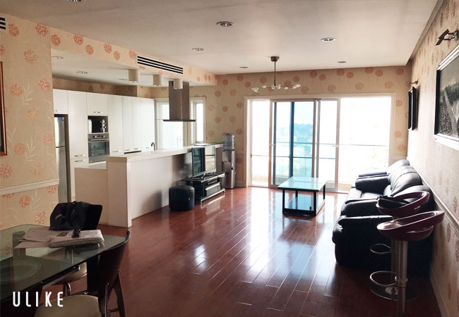 Westlake overlooking apartment in Golden Westlake for rent with spacious 02 bedrooms
